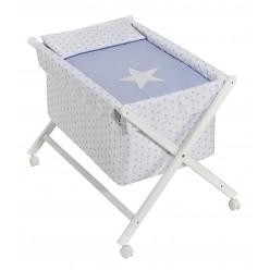 Interbaby minicuna tijera estrellas azul