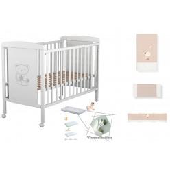 Cuna de bebe Star Ibaby+ Colchón Viscoelastica + Coordinado