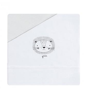 Casual organic juego de sábanas león, minicuna 50x80