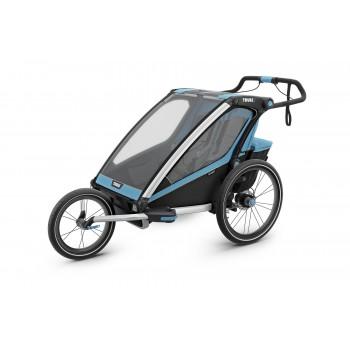 thule carrito multifuncional chariot sport doble color azul y verde