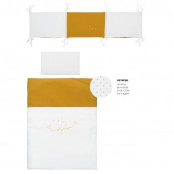 Bimbi casual set 3p - funda nórdica con relleno + f.almohada + protector colección dream