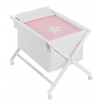 Interbaby minicuna tijera estrellas rosa
