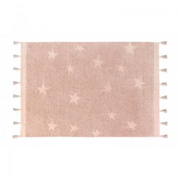Lorena canalas alfombra lavable Hippy stars vintage nude 120 x 175 cm