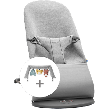 Babybjorn Pack Hamaca Bliss 3D Jersey con juguete amigos suave