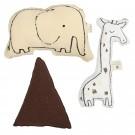Bimbi casual pack 3 cojines decorativos colección giraffe