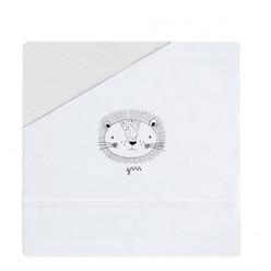 Coimasa juego de sábanas casual organic león, minicuna 50x80