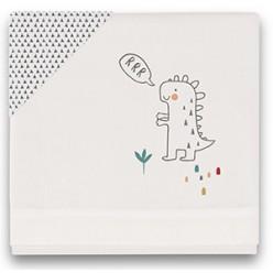 Casual organic juego de sábanas dinos, minicuna 50x80
