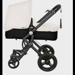 Baby ace 042 duo black + base black + vestimenta y capota basic de piel ecológica