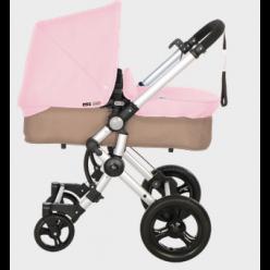 Baby ace 042 duo silver + base arena + vestimenta y capota basic de piel ecológica