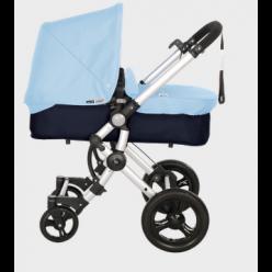 Baby ace 042 duo silver + base azul marino + vestimenta y capota basic