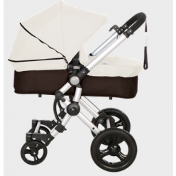 Baby ace 042 duo silver + base choco + vestimenta y capota extensible