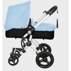 Baby ace 042 duo silver + base black + vestimenta y capota basic