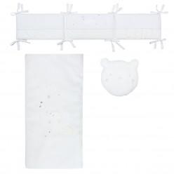 Pirulos colcha + protector + cojin colección oso nieve