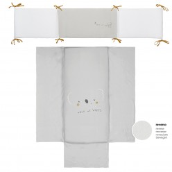 Bimbi casual Edredon reversible + protector  colección sidney