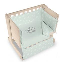 Casual organic minicuna colecho-escritorio-juguetero happy sólo textil