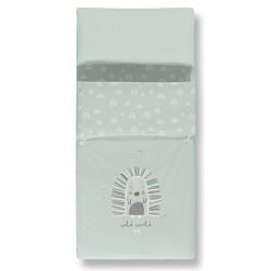 Casual organic saco nordico+bajera estampada+funda almohada happy cuna 60x120