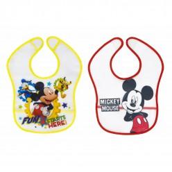 Interbaby pack 2 baberos PEVA colección disney - Mickey
