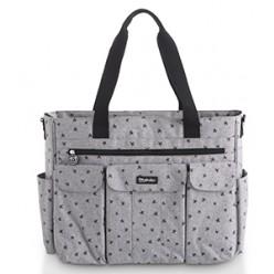 Pirulos bolso maternal XL + cambiador colección denim estampado