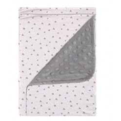 Coimasa manta microfibra dots/estampada casual organic sweet night