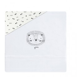 Coimasa juego de sábanas de punto casual organic león, maxicuna 80x140