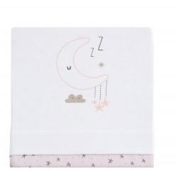 Casual organic juego de sábanas de punto sweet night, minicuna 50x80