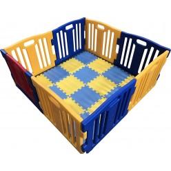 Parque de Bebe XL 8 Piezas Star Ibaby Play Twin/Incluye alfombra puzzle 16 piezas