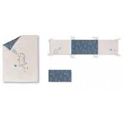 Casual organic Set de funda nórdica con relleno + funda almohada + protector Dinos