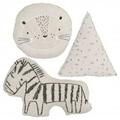 Bimbi casual pack 3 cojines decorativos colección leon lino