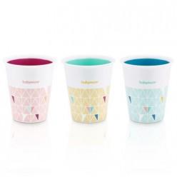 Babymoov juego de 3 vasos multicolores Fun Cups