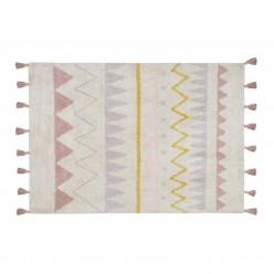 Lorena canals alfombra lavable Azteca natural-nude vintage 120 x 160 cm