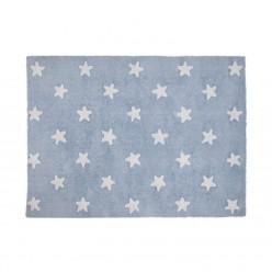 Lorena canals alfombra lavable estrellas azul-blanco 120 x 160 cm