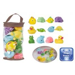 Bo jungle juego animales de baño- 12 piezas