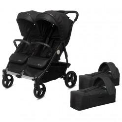 playxtrem silla de paseo baby twin + 2 capazos baby twin cot y sacos de regalo