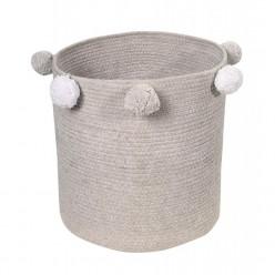 Lorena canalas cesta para juguetes Bubbly gris