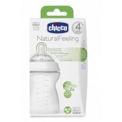 Chicco biberón Natural Feeling +4M 250 ml