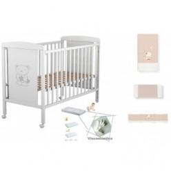 Cuna colecho de bebe star ibaby + colchón viscoelastica + coordinado