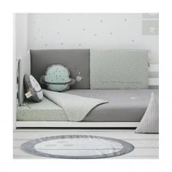 Bimbi casual set 3p - funda nórdica con relleno + f.almohada + protector colección planet