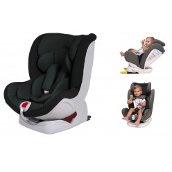Silla de Coche 0 1 2 3 Star Ibaby Travel Isofix 360 grados. Black Edition