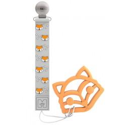Saro cinta portachupetes de silicona con mordedor