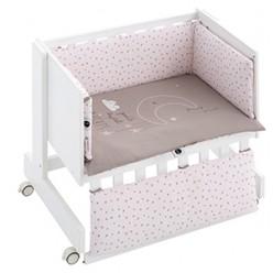 Casual organic minicuna colecho-escritorio-juguetero sweet night blanca