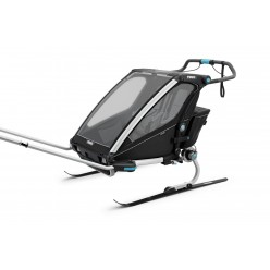 thule carrito multifuncional chariot sport doble color negro