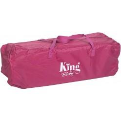 Plastimyr Cuna de Viaje Aluminio +Elevador Rosa
