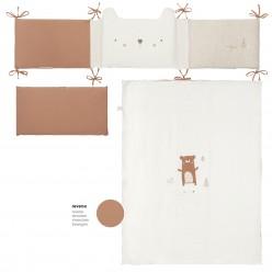 Bimbi casual set 3p - funda nórdica con relleno + f.almohada + protector colección explorer