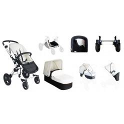Baby ace 042 duo silver + base blanca + vestimenta y capota extensible